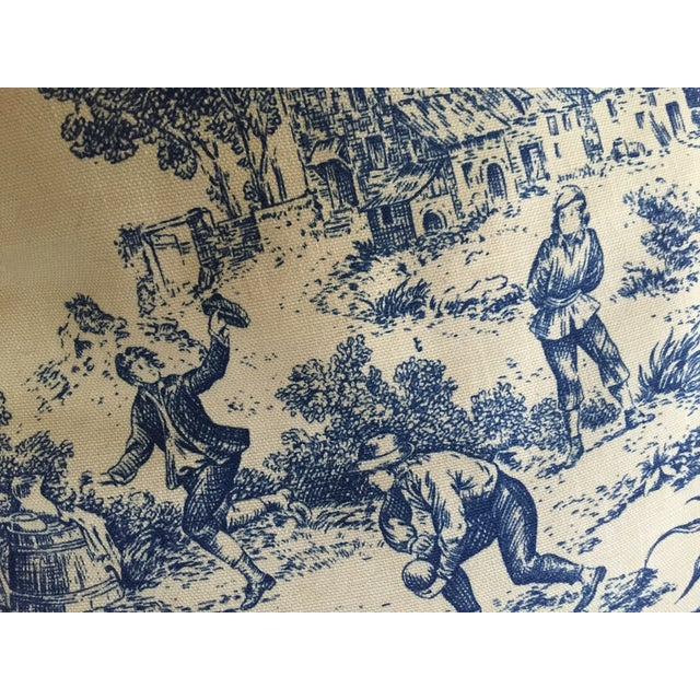 Image of French Country Vintage Toile Chaise