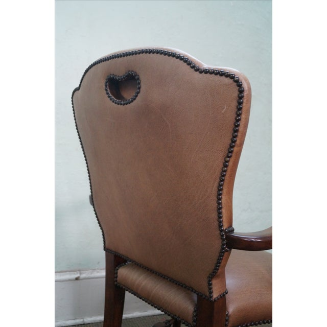 Lillian August 18th Century Leather Arm Chair - Image 5 of 10