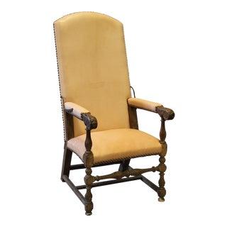 17th Century High Back Arm Chair