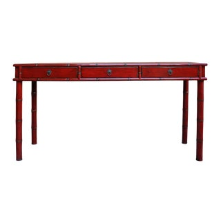 Chinese Distressed Red Writing Desk