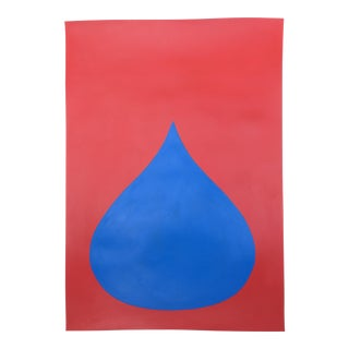 Fat Drop of Superman Blue on Red by Stephanie Henderson