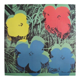 Original Andy Warhol Poster, Ten-Foot Flowers
