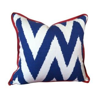 Linen Ikat Chevron Pillow