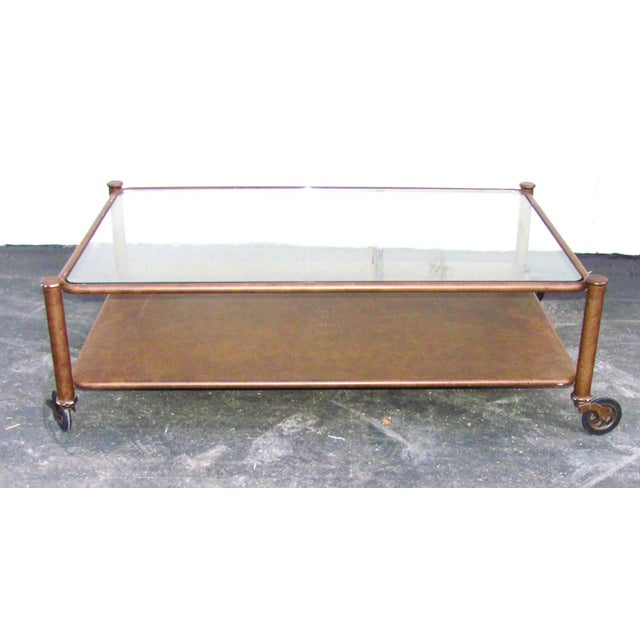 Industrial Victorian Metal And Glass Coffee Table Chairish