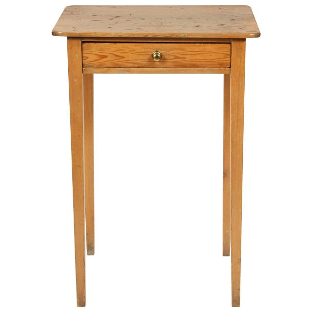 Antique 19th Century English Pine Side Table - Image 1 of 7
