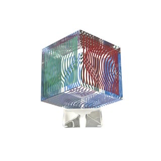 Victor Vasarely Op Art Silkscreen Acrylic Sculpture