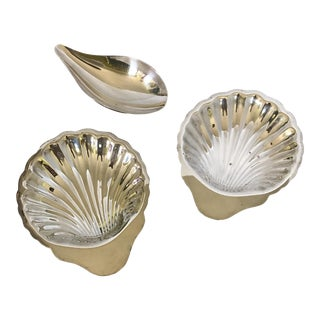 Assorted Silver Plate Nut Dishes - Set of 3
