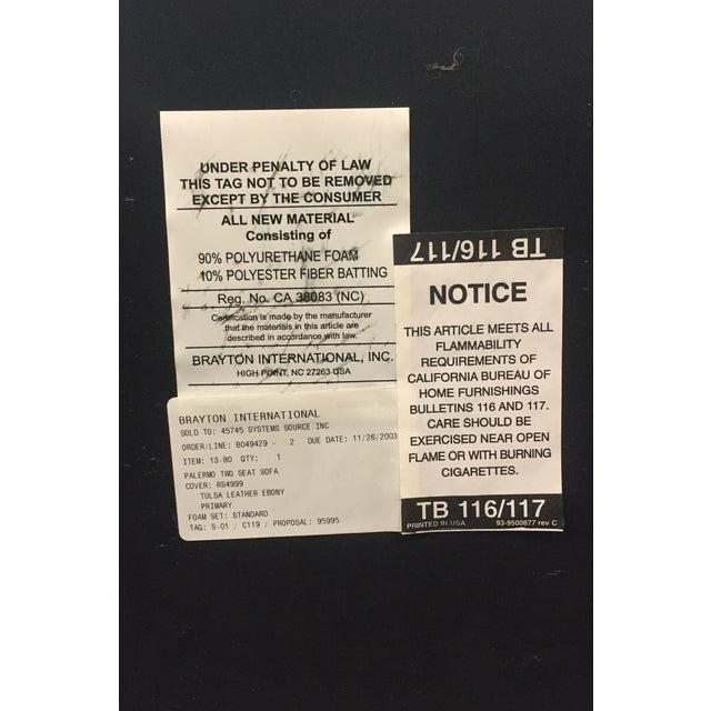 Image of Brayton International Black Leather 3 Seater Sofa