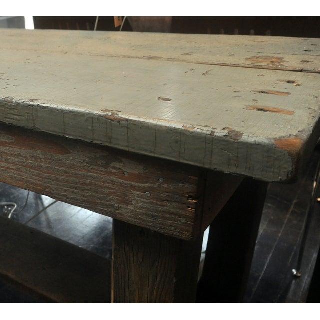 Image of Rustic Grey Farm Table