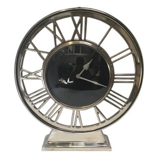 Chrome Mantle Clock