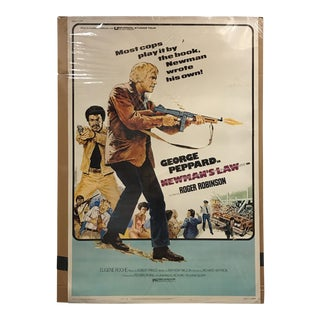 "Universal Picture ""Newman's Law"" Vintage Movie Poster"