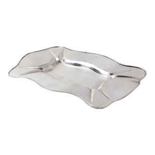 Axton Scalloped Silver Metal Tray