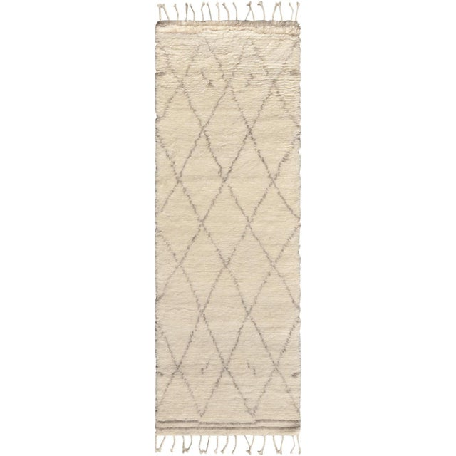 "Image of Moroccan Silk & Wool Runner - 2' 7"" x 6'"