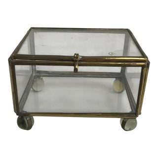 Glass Box with Clear Marble Feet