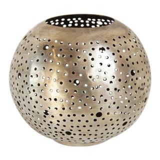 Nickel Metal Ball Candle Holder
