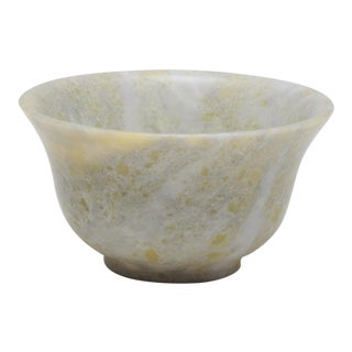 Mid-Century Nephrite Jade Bowl