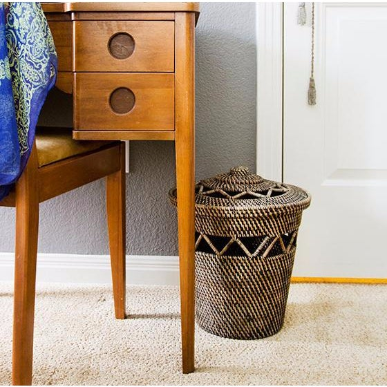 Rattan Basket with Open Weave Design - Image 2 of 3