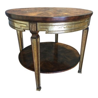 Large Theodore Alexander Gold-Leaf End Table