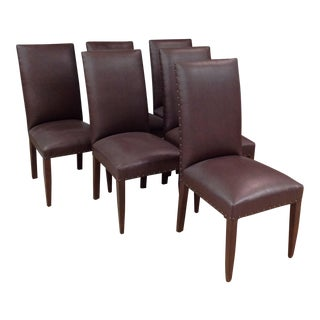 Collette Faux Leather Dining Chairs - Set of 6