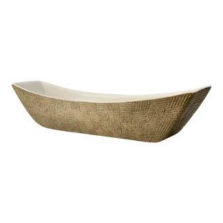 Basketweave Pattern Pottery Dish