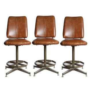 Vintage Mid-Century Bar Stools - Set of 3