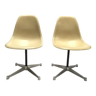 Vintage Eames Fiberglass Side Chairs - A Pair