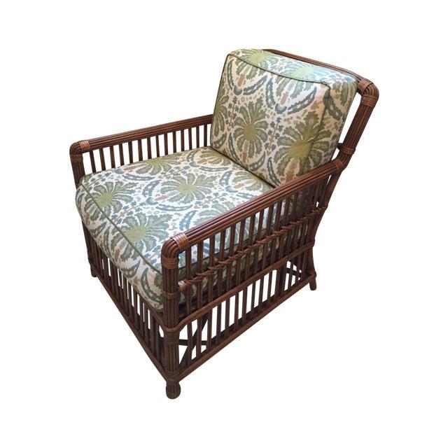 Modern Rattan Lounge Chair - Image 1 of 8