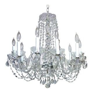 Restored Vintage Crystal & Glass Chandelier