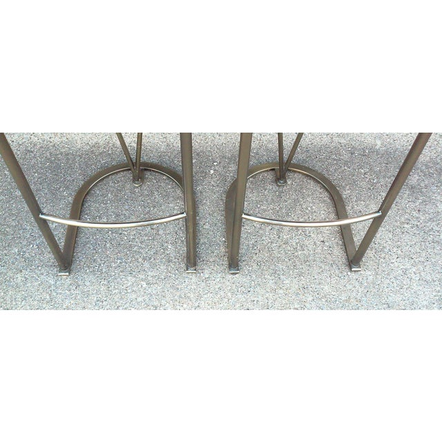 Milo Baughman Bar Stools -- A Pair - Image 9 of 10