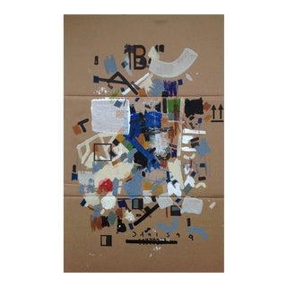 'Berggen Beeach' Acrylic on Cardboard