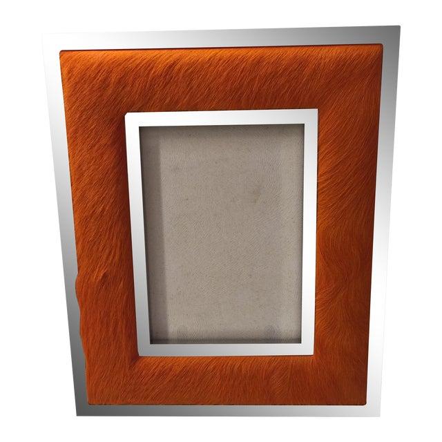"Orange Ponyskin Frame- 5"" x 7"" - Image 1 of 7"