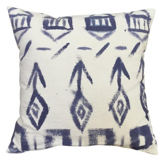 Indigo and Natural Organic Cotton Canvas Pillow