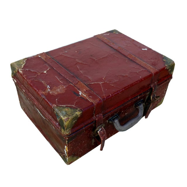 Weathered Ox Blood Nesting Trunks - Set of 3 - Image 9 of 11