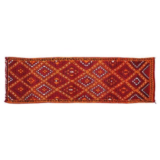"""Red Moroccan Runner Rug - 10'6"""" x 3'3"""""""