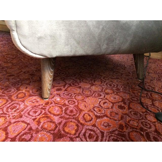 Vladimir Kagan for Weiman Gray Velvet Angled Sofa - Image 5 of 8