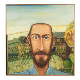 The Sun Flower Portrait Anthony Green, Oil on Canvas, 1974