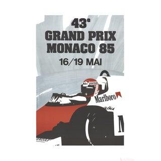 Monaco Grand Prix 1985-1991 Lithograph