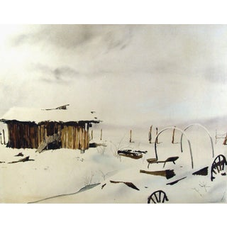 Ramiro Garza Old Homestead Watercolor