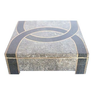 Decorative Box w/ Marble Inlay by Kelly Wearstler