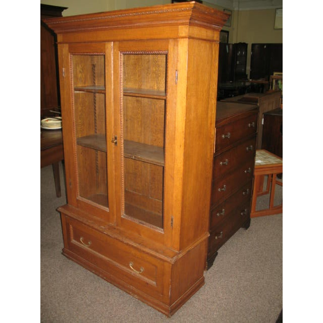 Antique American Oak Bookcase - Image 7 of 7