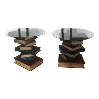 Pair of Stacked Bookends Scholar Collector