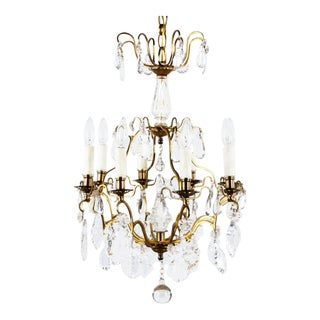 1870s French Napoleon III Crystal Chandelier