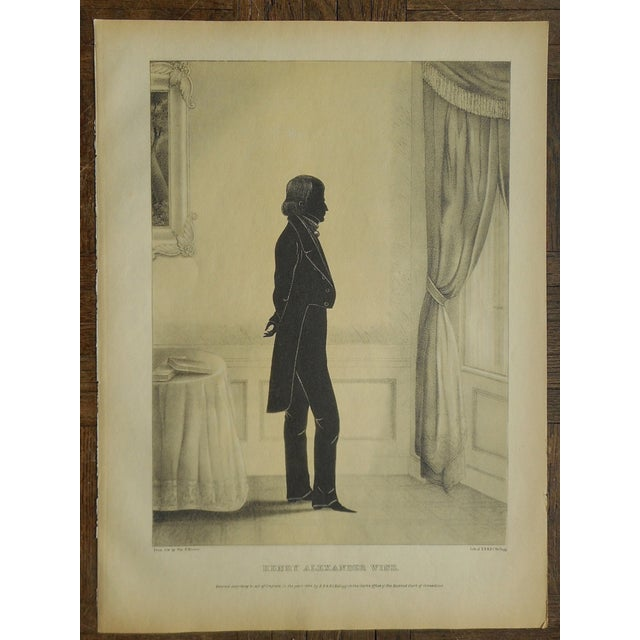 Image of Antique Folio Size Silhouette Lithograph