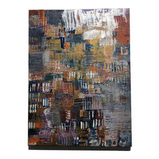 Abstract Impasto Painting on Canvas