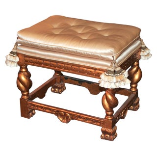 Italian Carved and Giltwood Stool