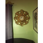 Image of Mid-Century Modern Syroco Gilt Wall Clock