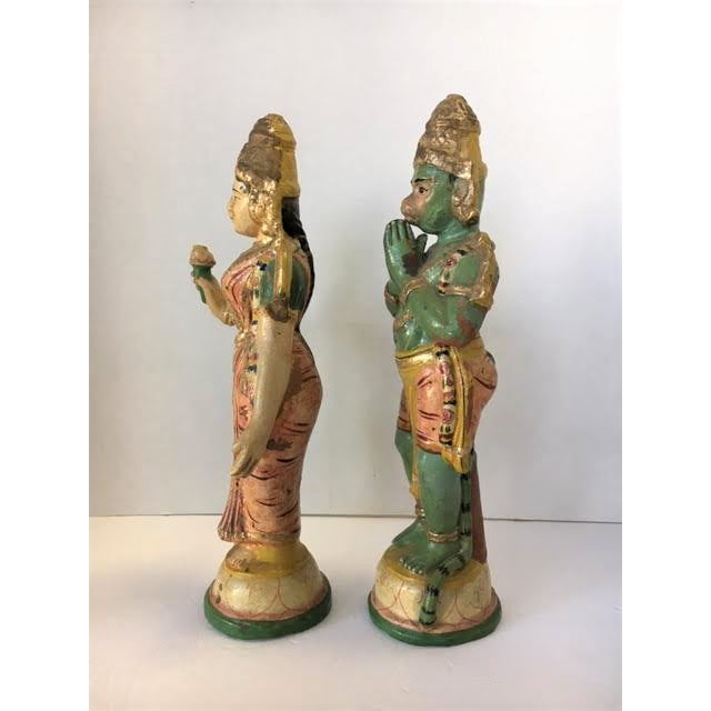 Image of Terra Cotta Indian Figurines - A Pair