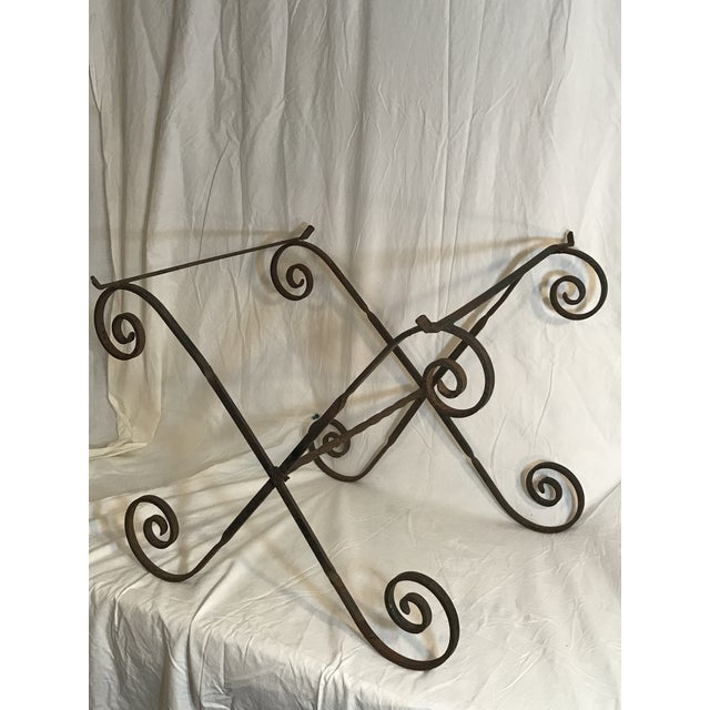 Antique Wrought Twisted Iron Table Base - Image 3 of 11