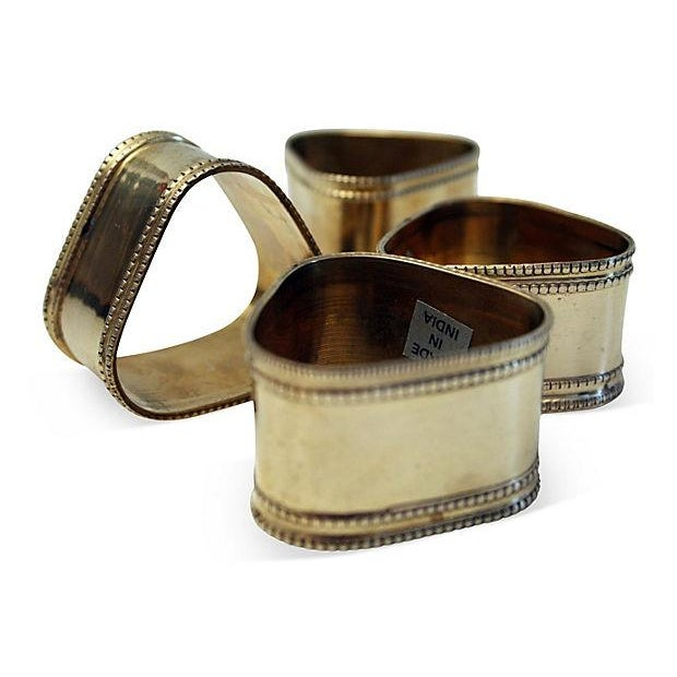 Sculptural Triangular Napkin Rings - Set of 4 - Image 1 of 5