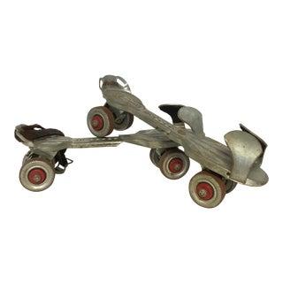 Vintage Roller Skates & Key - A Pair